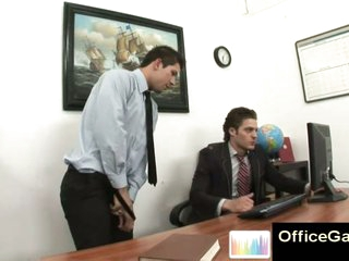 Gay guy snowy masturbating at work primarily office