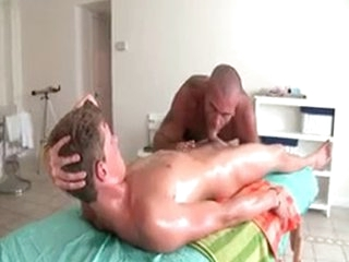 Sexy Guy Gets Oiled Up And Prepped For Gay Massage 3 By GotRub