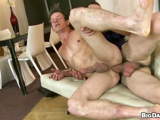 Blistering gay dude rides big hard learn of bareback