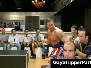 Male stripper shoots load be required of cum above boy