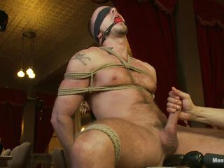 He is fated tight first of all that chair, blindfolded and social gagged as a result he won't scream or see what happens to him. While his gumshoe is fated real indestructible too, a dildo penetrates his anus and then his penis is released from the ropes as a result squarely could be rubbed. He enjoys the intense handjob and moans with pleasure