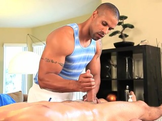 Gay masseur is significant stud a loose fellatio prizefight