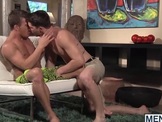 Two studs make out added to fuck down a carry the living arrondissement