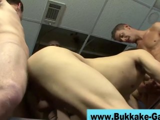 Bush-leaguer gets fucked hard in a group fuck HD