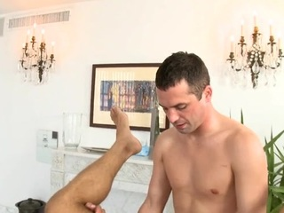 Hunk gets lusty anal drilling by means of massage